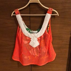 T-Bags Los Angeles Crochet Top With Beads